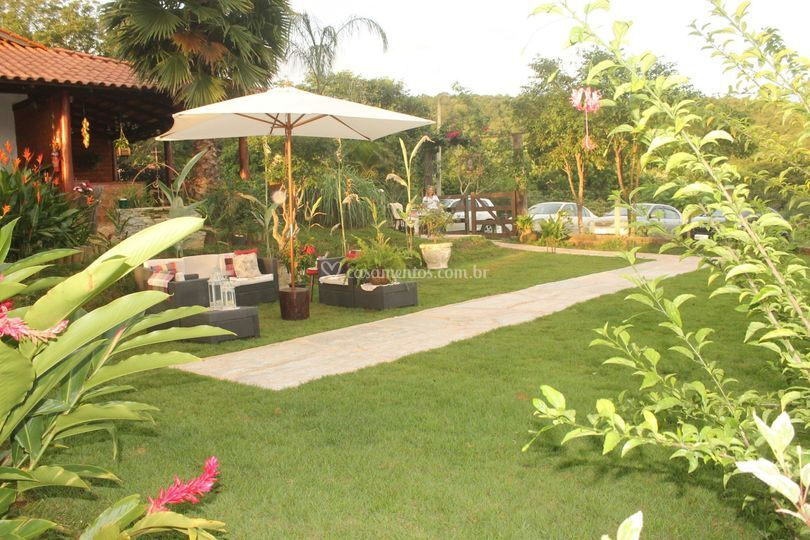 Jardim para o casamento