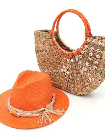 Chapéu e bolsa personalizada