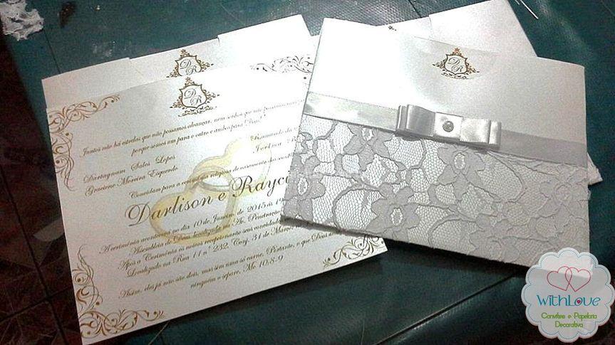 Convite elegante com renda 05