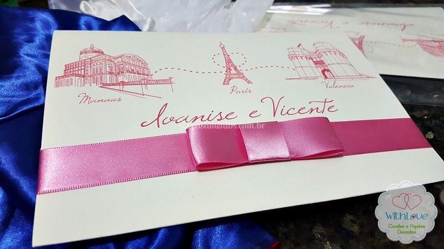 Convite Classico Paris e Manau