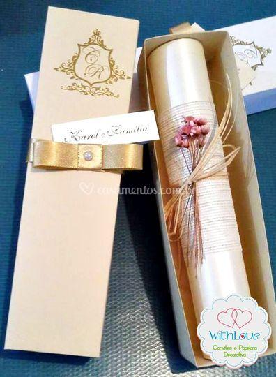 Convite Elegante Caixa 01