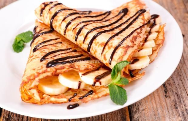 Crepe de Banana com Chocolate