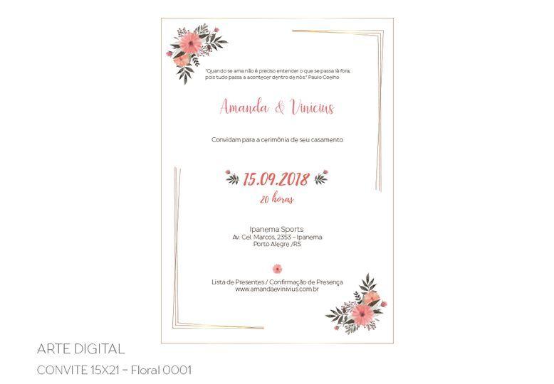 Arte digital convite 15x21
