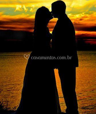 Pôr do sol romântico