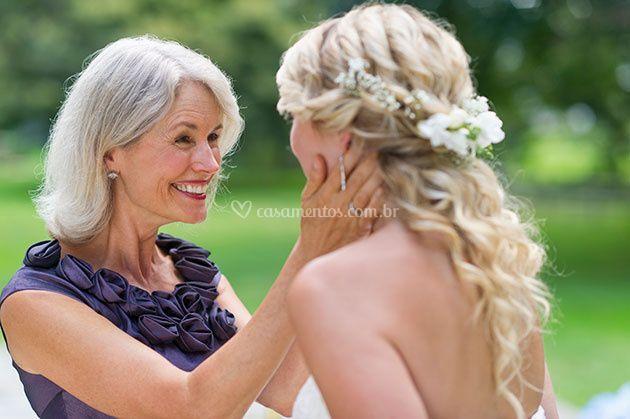 Dia da NOiva com a mãe