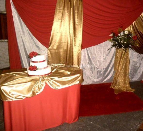 Casamento vermelho e dourado