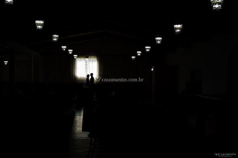 Noivos no salão
