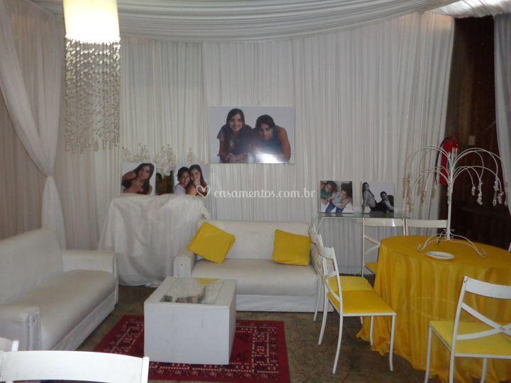 Casamento amarela e branco