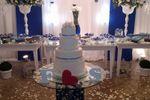 Azul e branco de Casa de Festa Espa�o Rosa