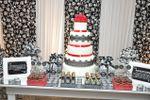 Mesa de bolo de Casa de Festa Espa�o Rosa