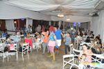Sal�o cheio de convidadas de Casa de Festa Espa�o Rosa