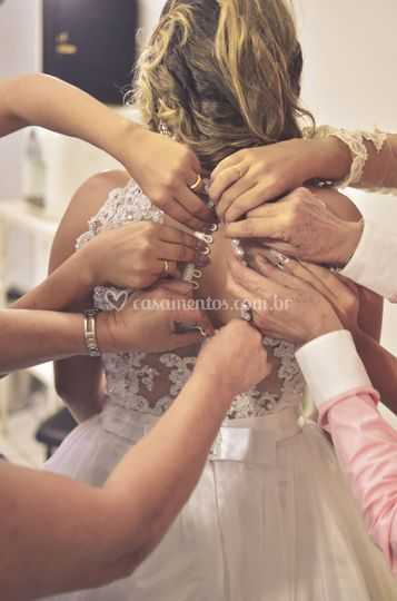 Madrinhas com a noiva
