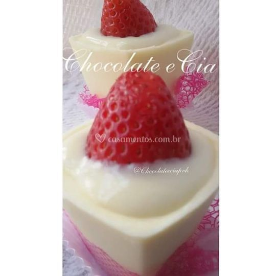 Copo de chocolate c/ mousse