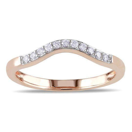 Aliança ouro com diamantes