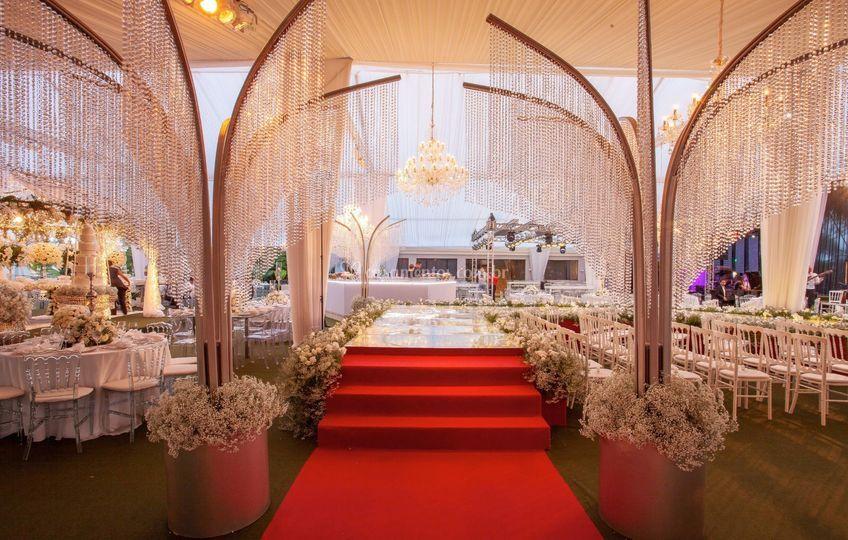 Tenda decorada