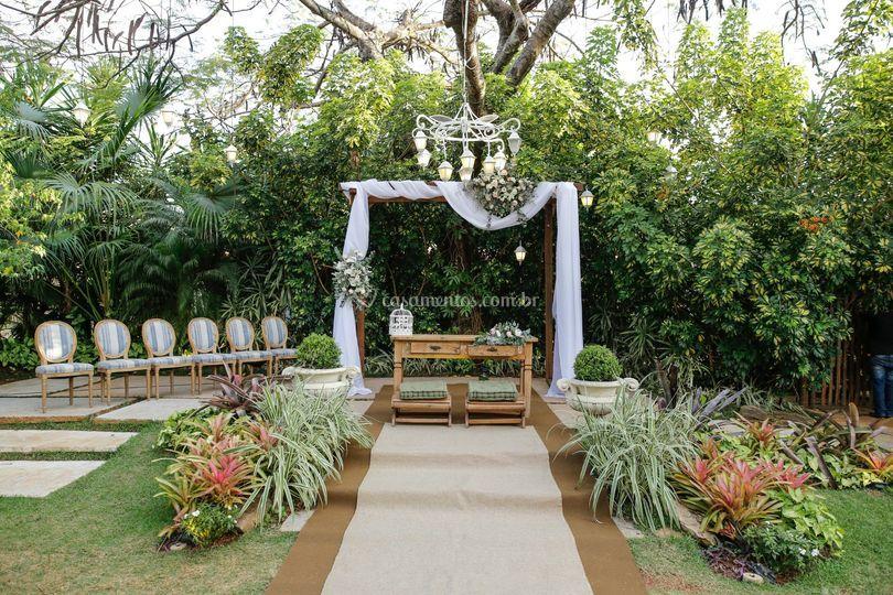 Área da cerimônia