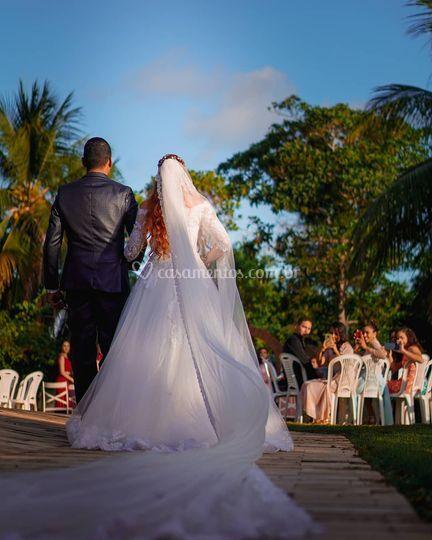 Entrada da noiva no Vila Filó