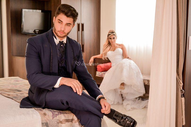 Trajes para noivo e noiva