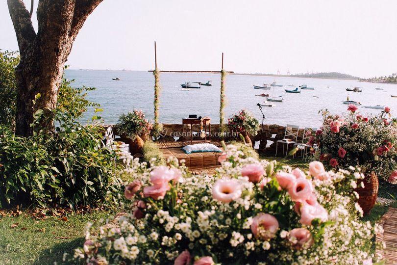 O altar e as flores