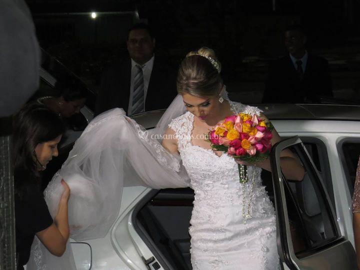 Chegada da noiva cerimônia