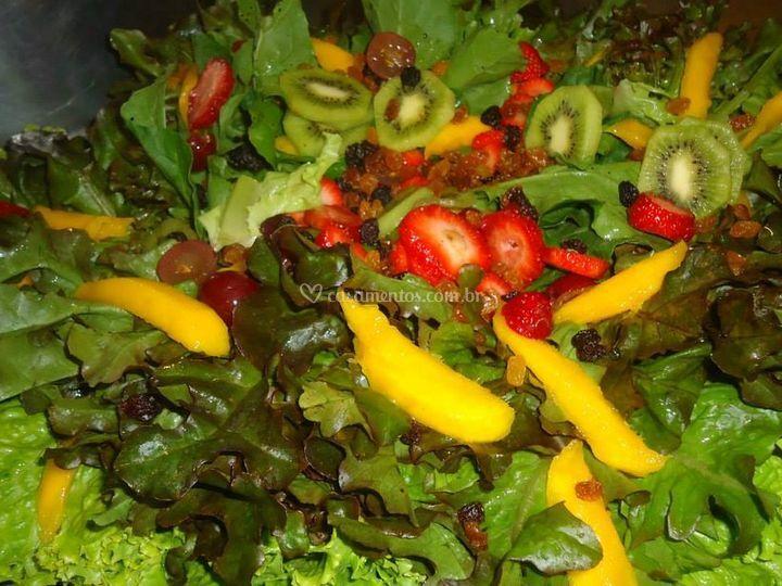 Combinação de frutas e legumes