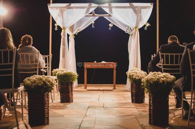 Cerimônia no terraço