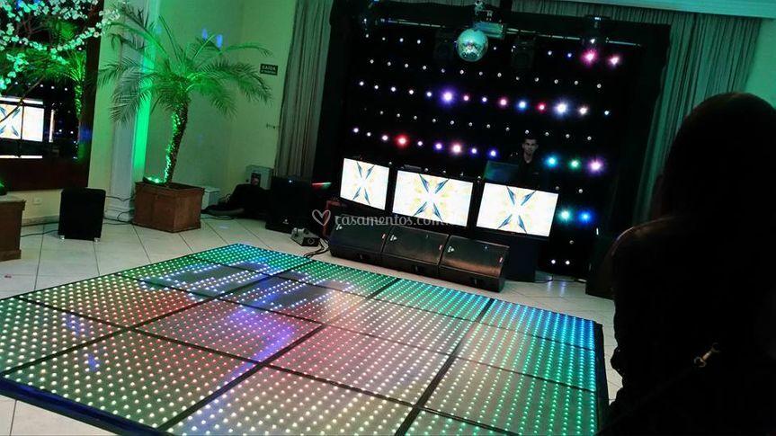 Pista de LED + Cortina