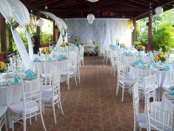 Salão com decoração