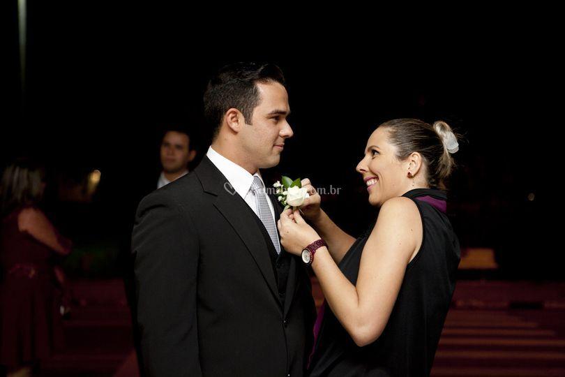 Carinho com o noivo