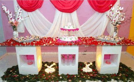 Mesa principal rosa