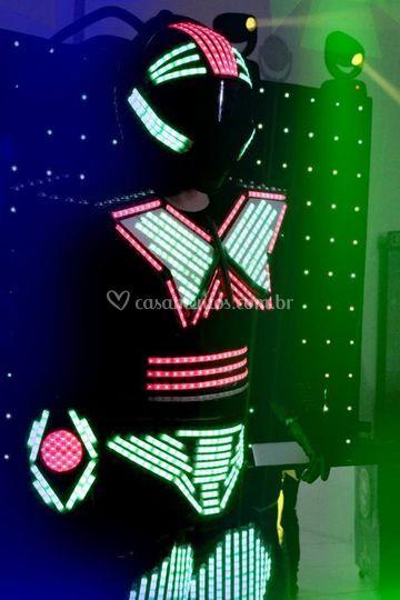 Robô de led para festas