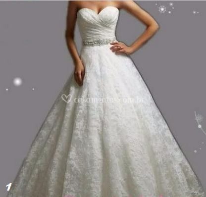 Vestido Noiva renda - 1