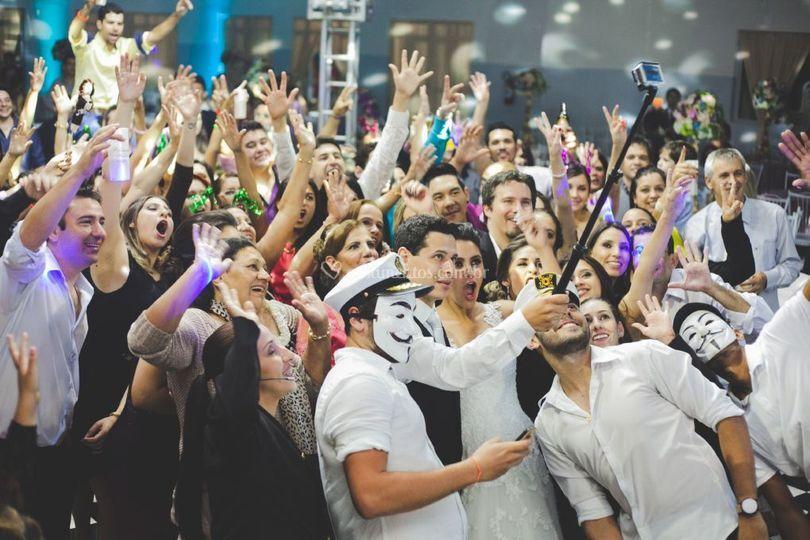 Selfie com os convidados