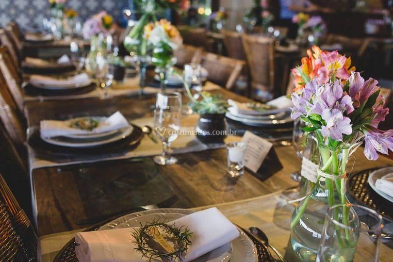 Mesa para os convidados