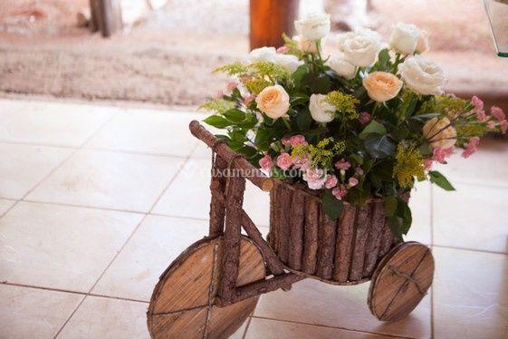 Bicicletinha com flores
