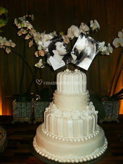 Criatividade no topo de bolo