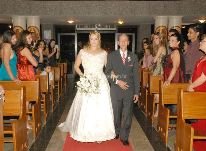 Momento da chegada da noiva