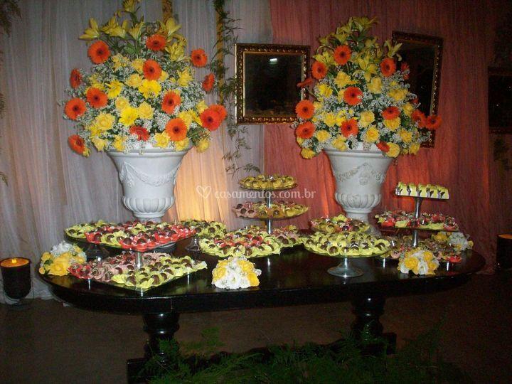 Mesa de doces floral