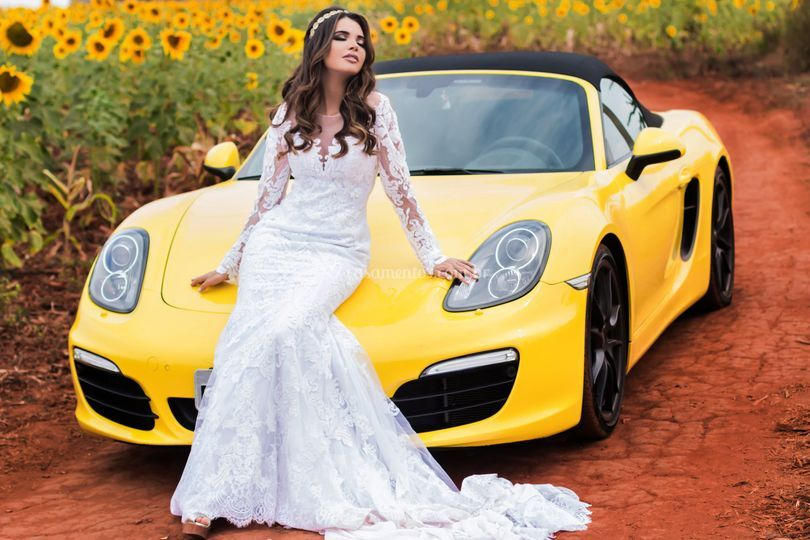 Porsche Boxster no pré-wedding
