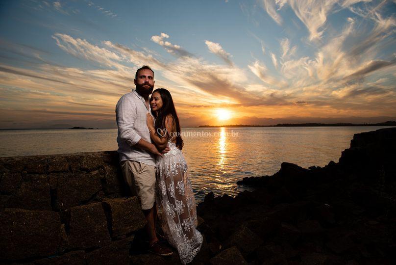 Por do sol pre-wedding