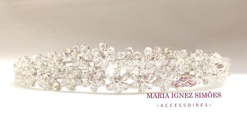 Coroa noiva cristais e strass