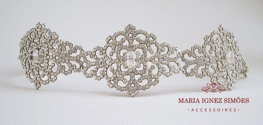 Headband noiva ou Porta coque