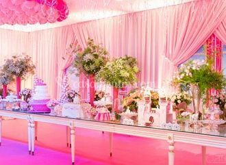 Decorado com organza