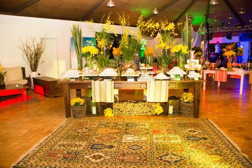 Espaço decorado para casamento