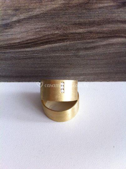 Aliança ouro 10mm