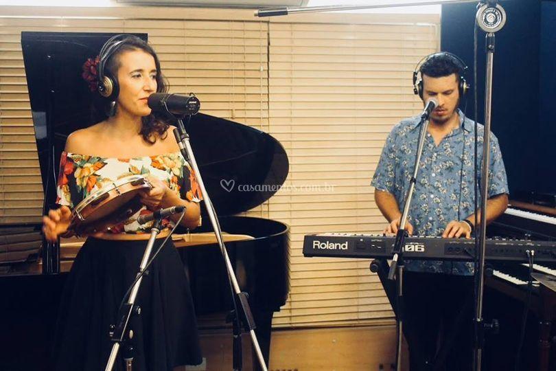 Gravação no estúdio