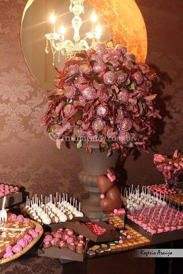 Macas cobertar com chocolate
