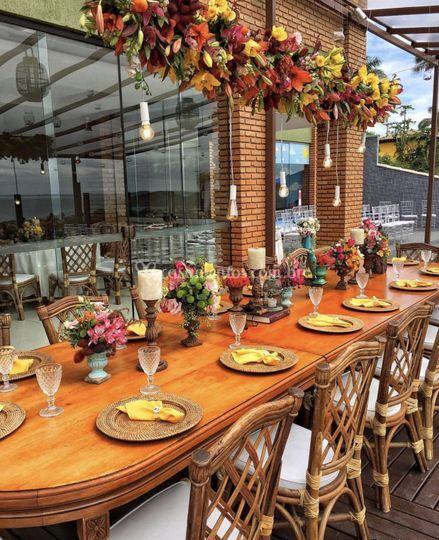 A mesa dos noivos!
