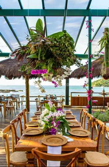Mesa dos Noivos Decor Tropical