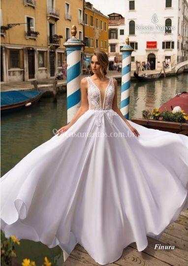 Vestido de Noiva Evazê 2019